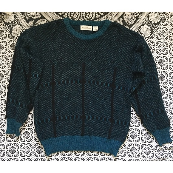 Vintage Sweaters - Retro 80's hipster sweater•